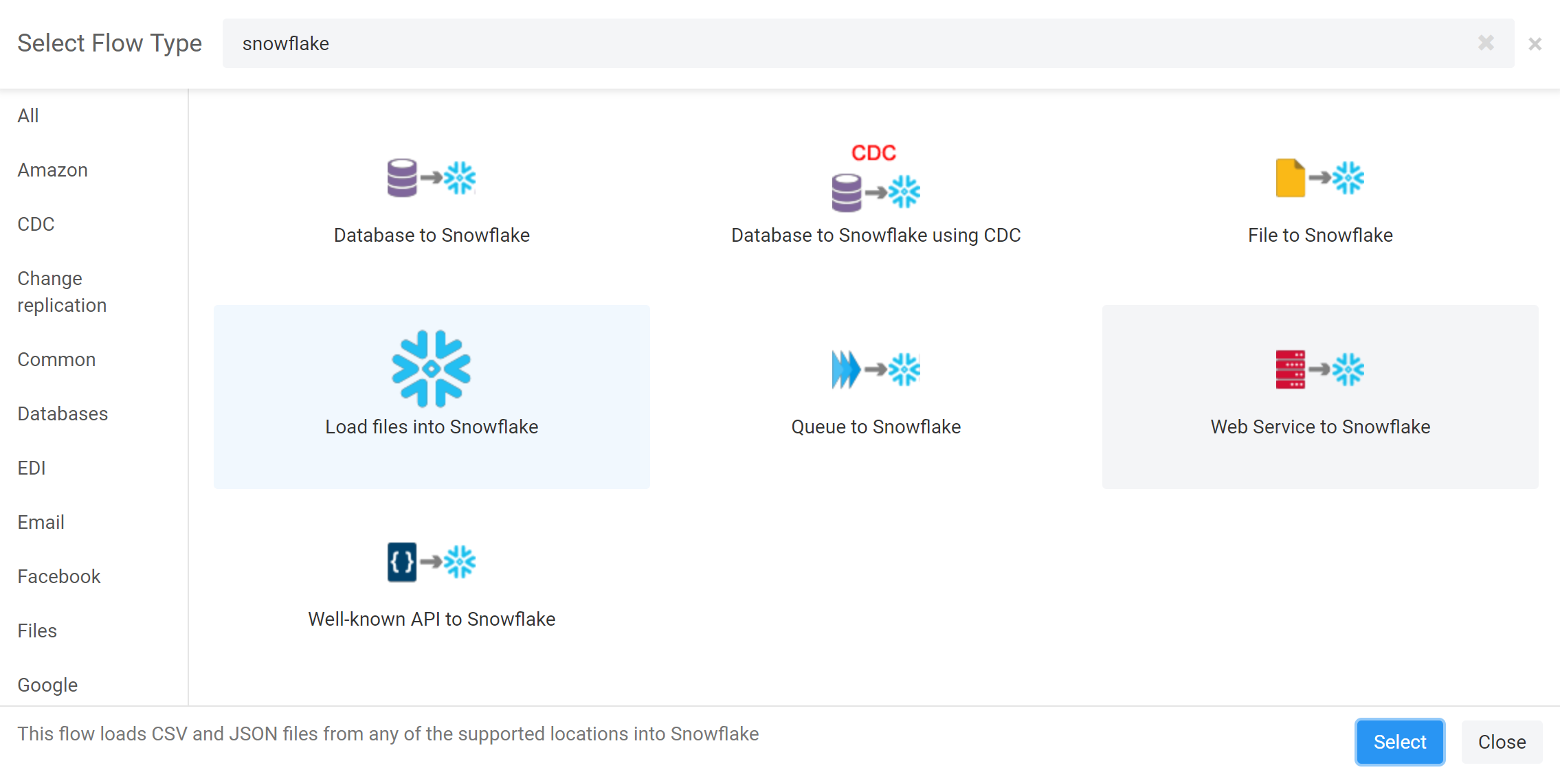 Snowflake flow examples – Etlworks Support